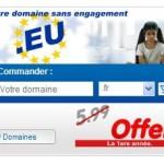 OVH vous offre un nom de domaine en .eu