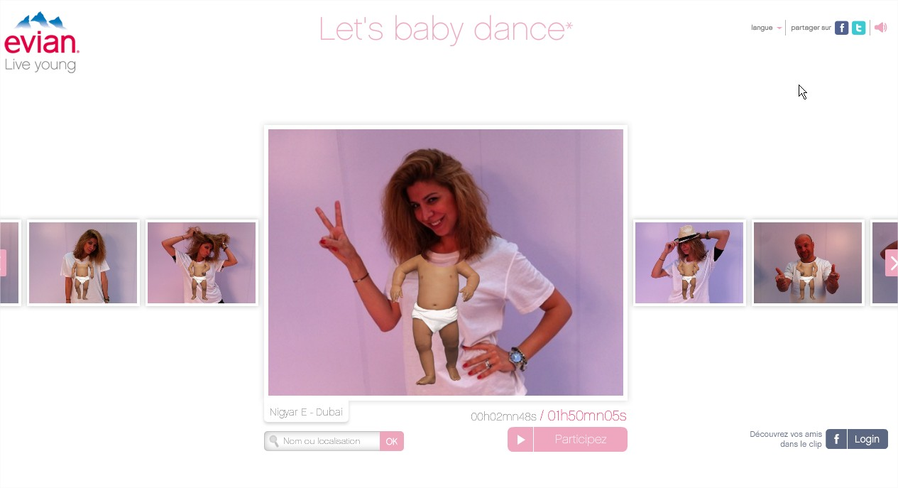 evian Let's baby dance