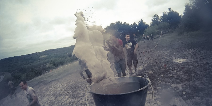 throwing-mud