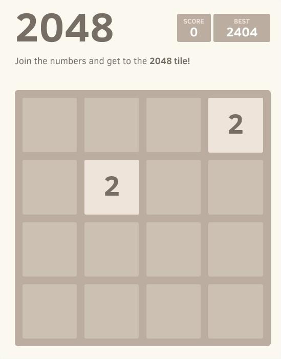 2048 jeu addictif