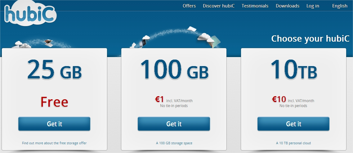 hubic 10 To Cloud offre