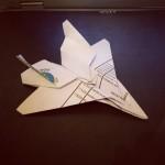 Ce soir, j'ai fait un origami de F15