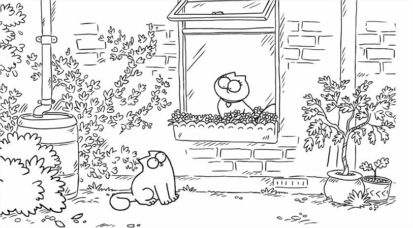 simon's cat butterflies