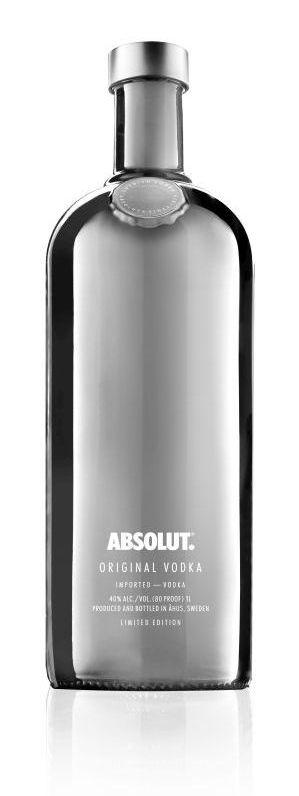 Bouteille grise Absolut Electrik edition limitee grise