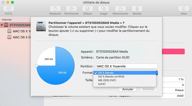 comment partitionner son disque dur mac