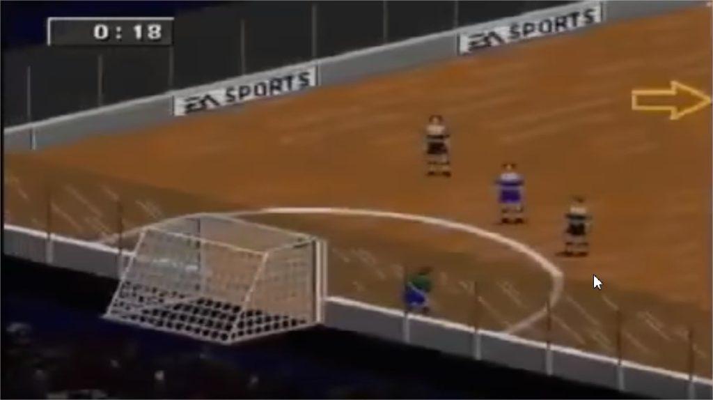 FIFA 97 indoor | Angleterre - Allemagne
